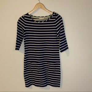 Boden Striped Navy White Tunic Dress